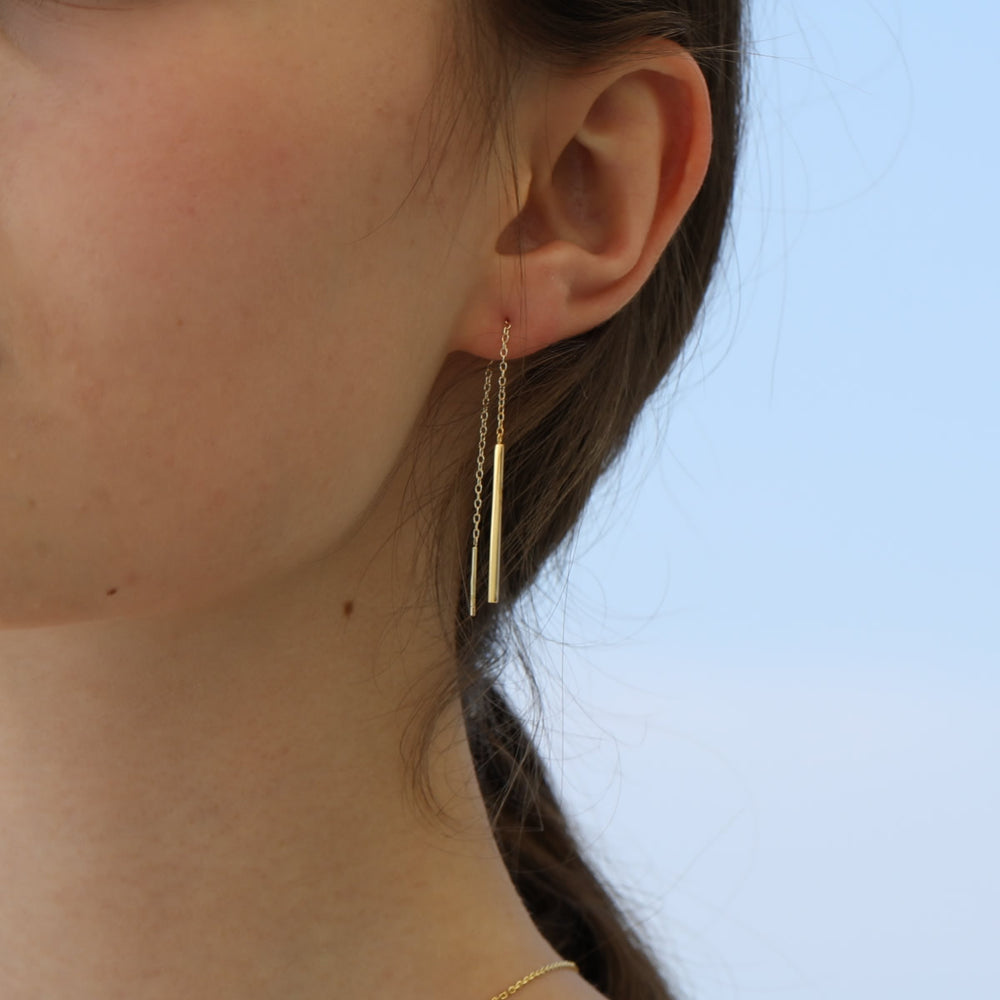 simple Bar Threader Earrings