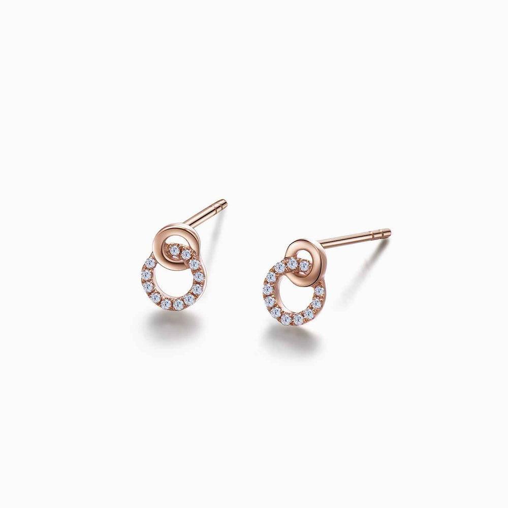 infinity earrings rose gold earrings