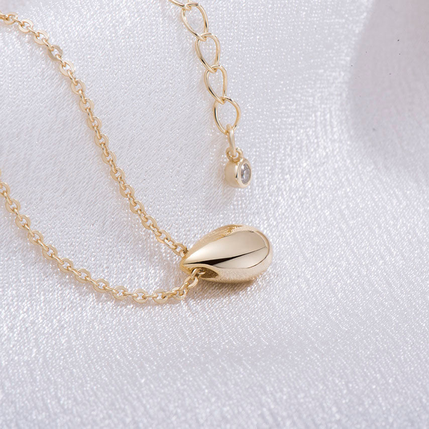 minimalist teardrop necklace gold gift for her