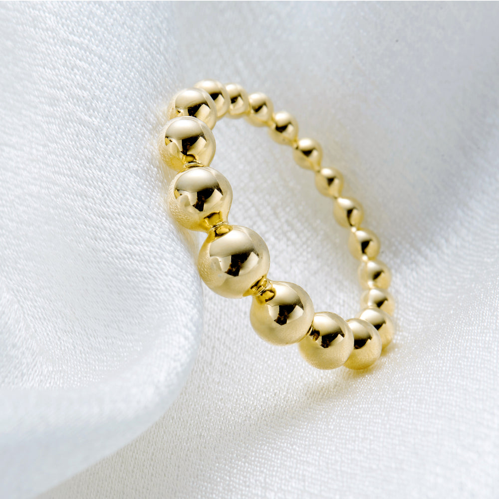 gold Bubble Ball Ring statement ring