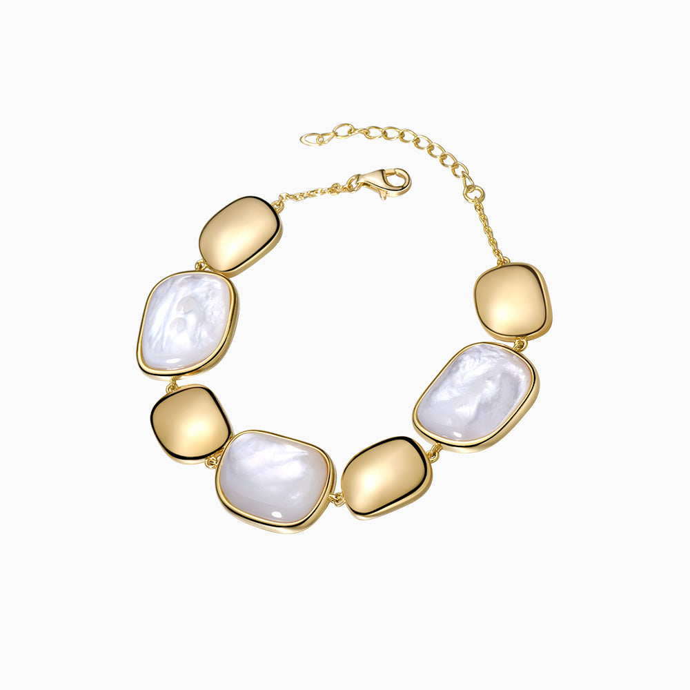 Handmade Mother of Pearl Bracelet gold