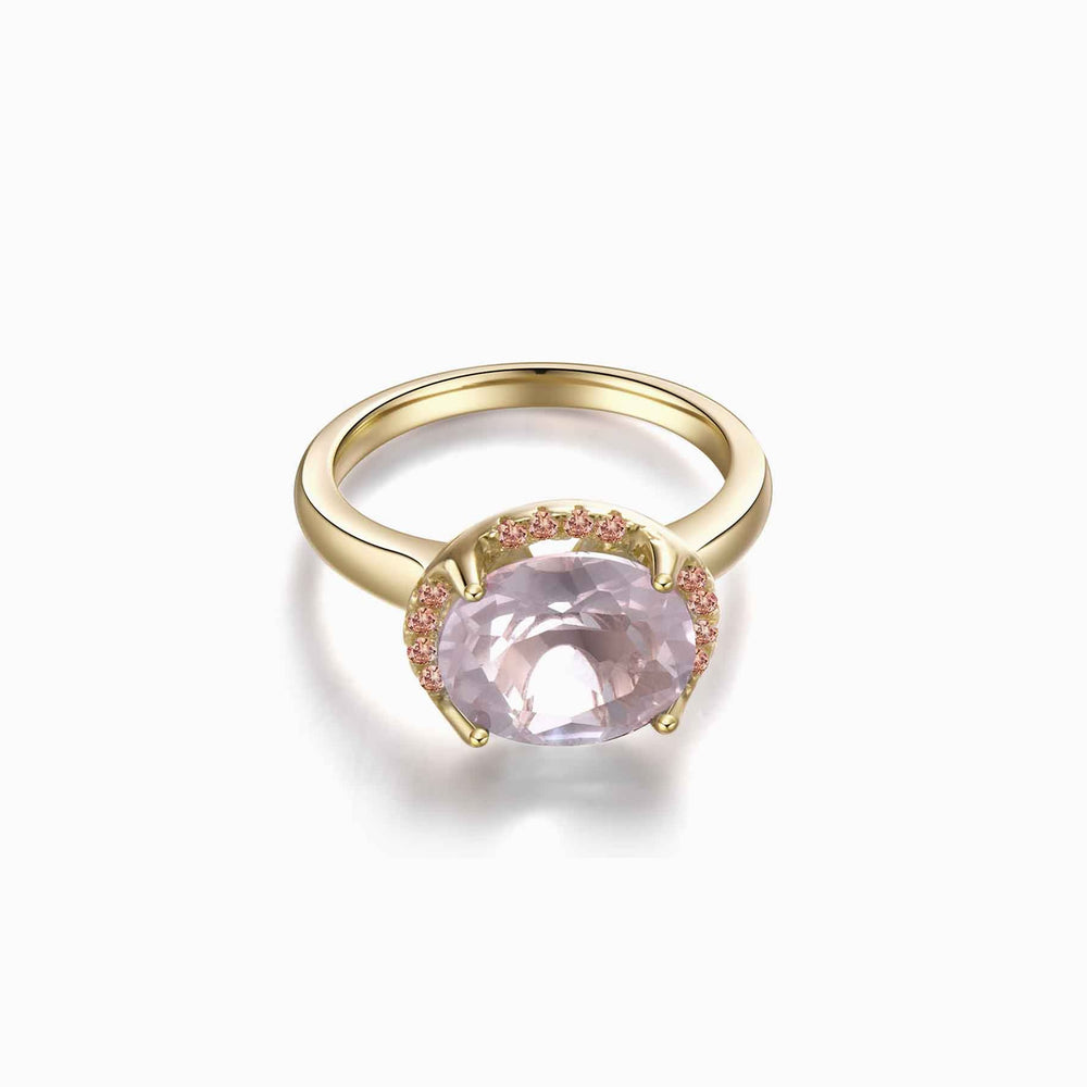 Rose Quartz Ring Gemstone Rings
