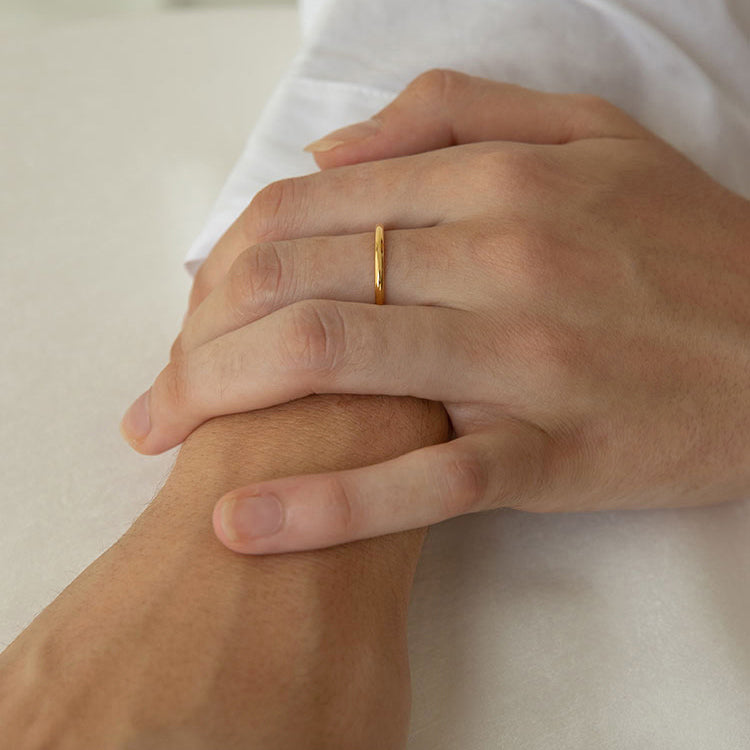 Plain Dome Band Ring