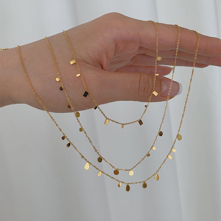 Shiny glitter Clavicle Chain Choker