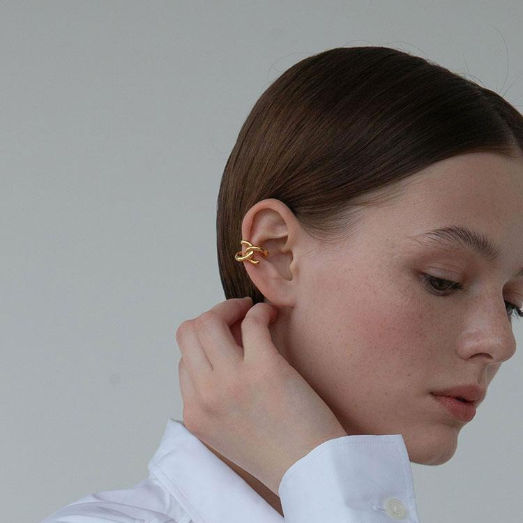 Knot Ear Cuffs Minimalist Cuff Earrings gold plated
