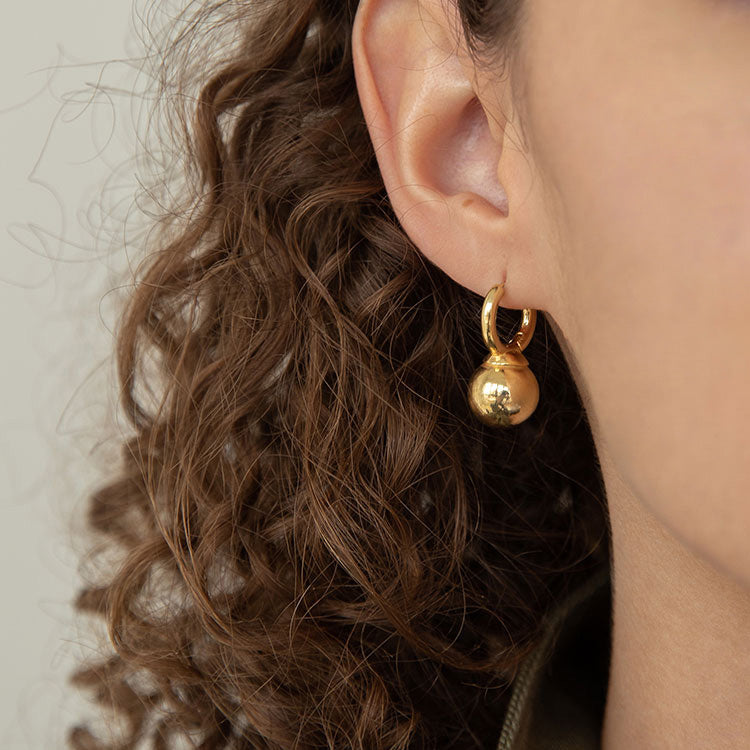 Vintage style Retro Kettle Hoop Earrings for women