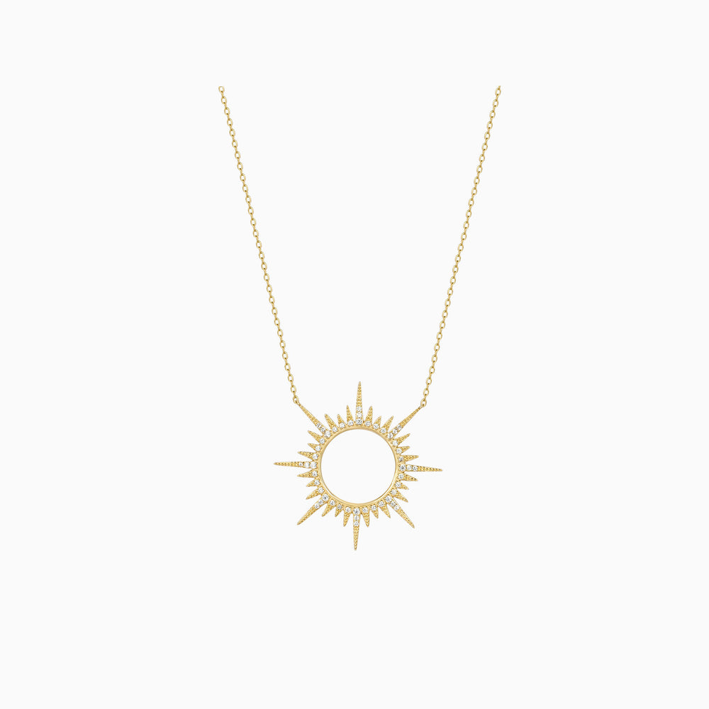 shining sunshine necklace gold