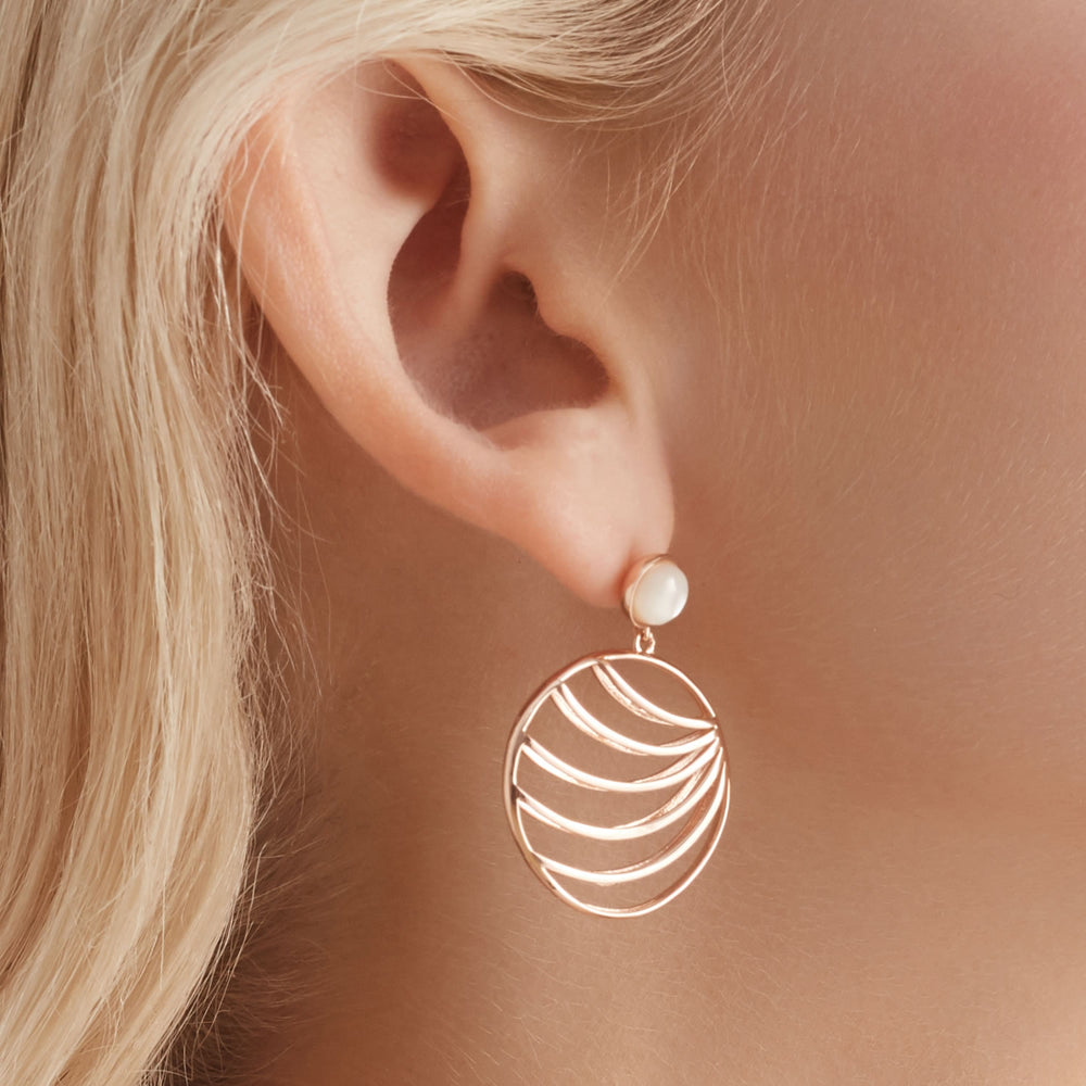 palm leaf earrings for women