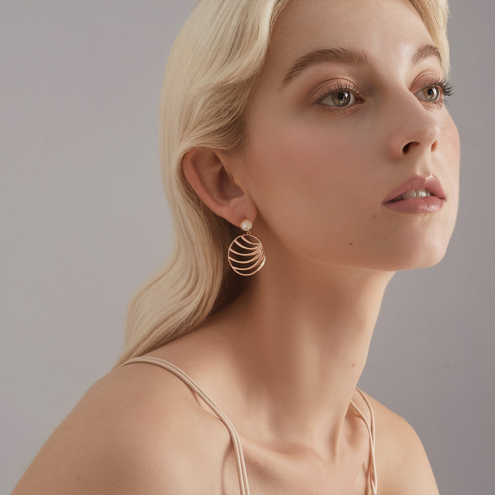 dainty leaf drop earrings holiday gifts