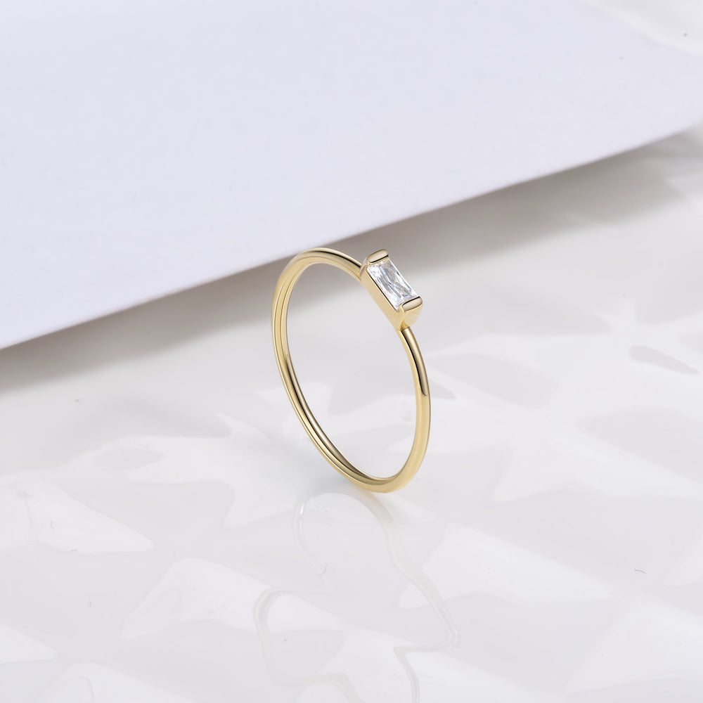 simple cubic zirconia ring everyday rings for women gift ideas