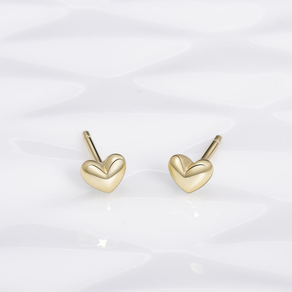 small sterling silver Heart Studs Earrings for women