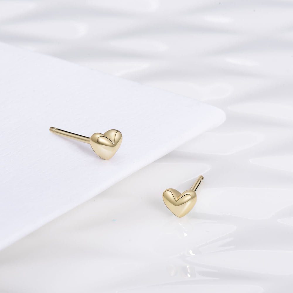 cute tiny 3D Heart Stud Earrings