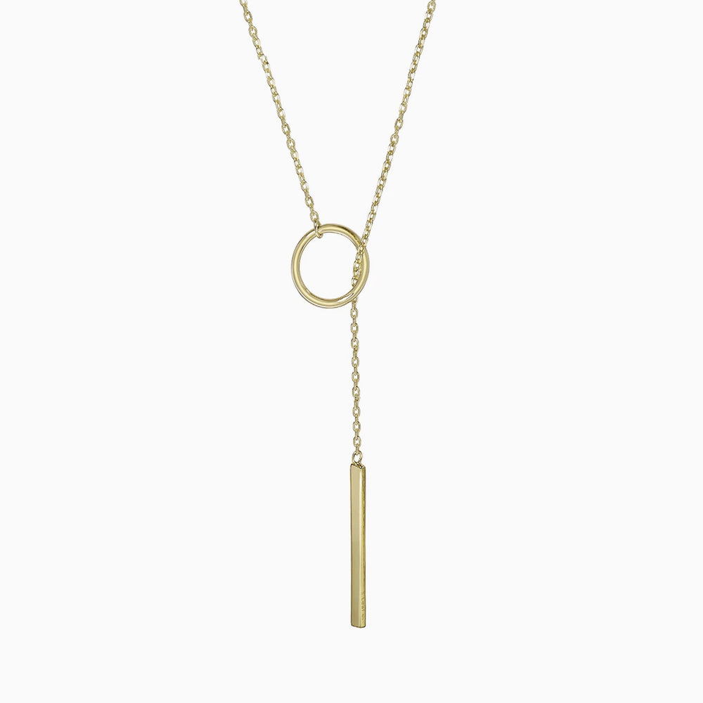 Lariat Bar Karma Open Circle Necklace gold