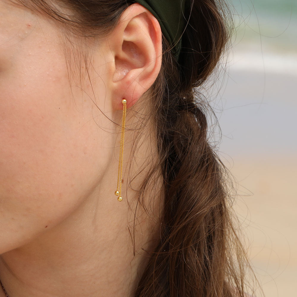 Chain Balls Earrings Gold for women