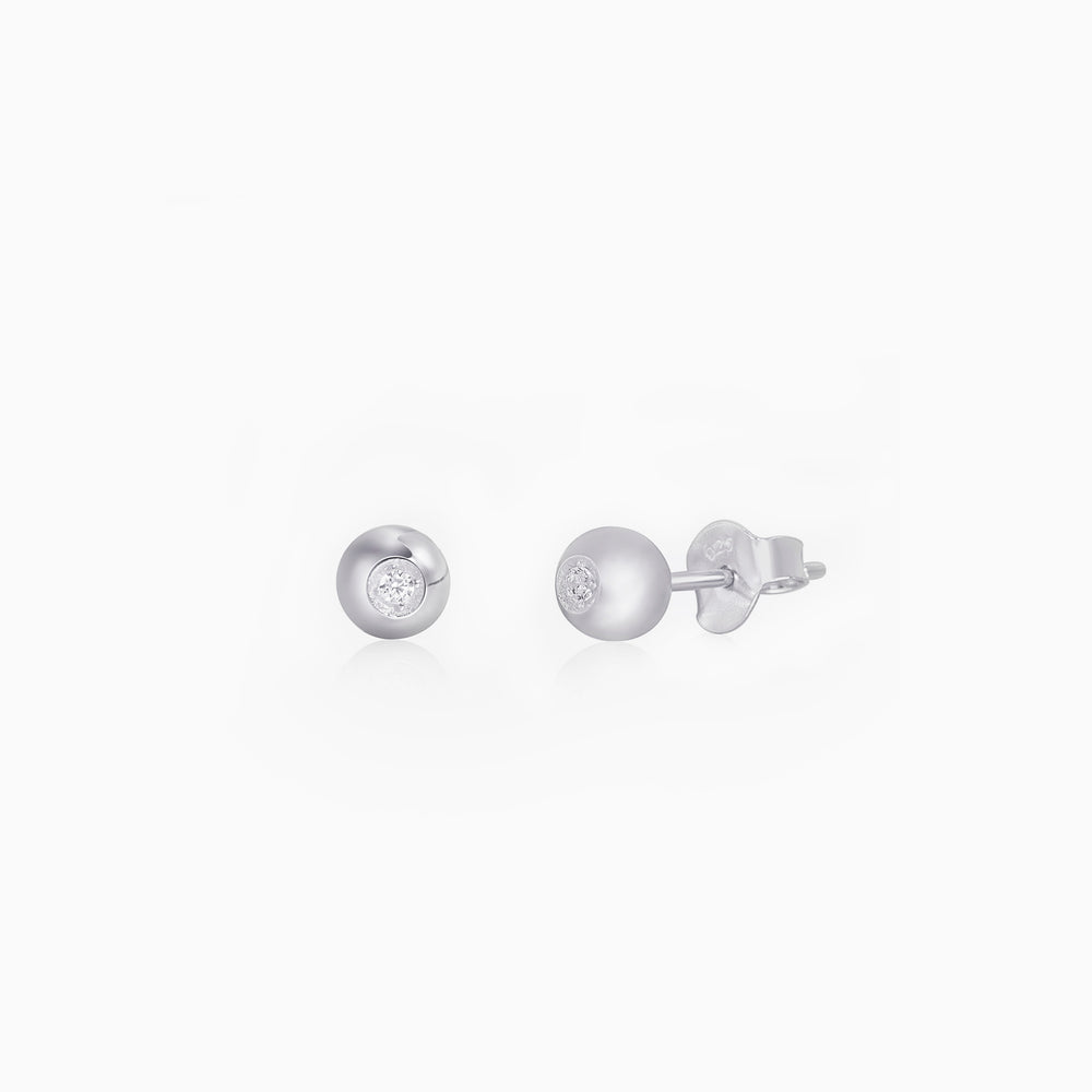 Sparkle Ball Stud Earrings sterling silver
