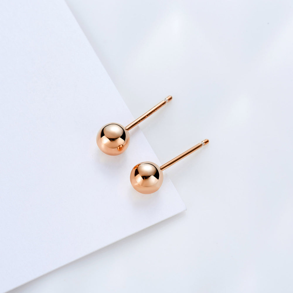 simple small Ball Stud Earrings