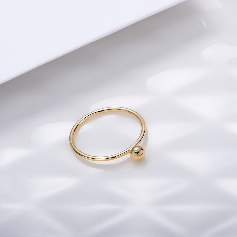 minimalist Tiny Ball Ring stackable rings for girls