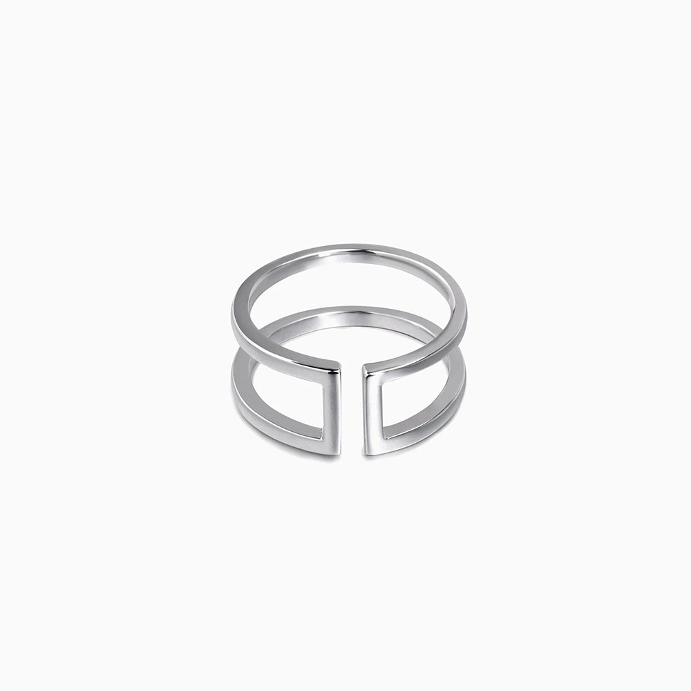 Parallel Bar Ring sterling silver