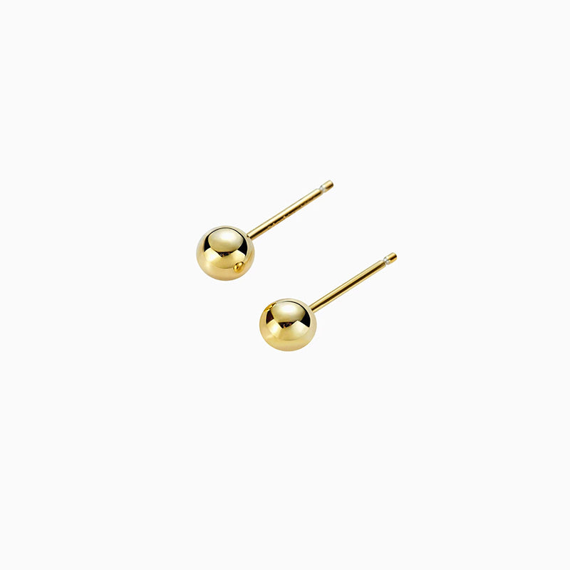Ball Stud Earrings gold plated