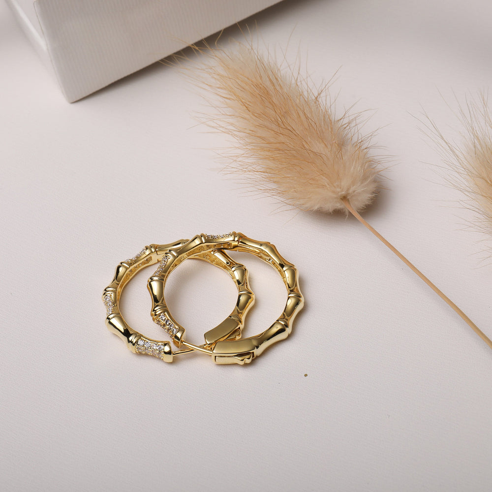 dainty Hoop Earrings gold plated