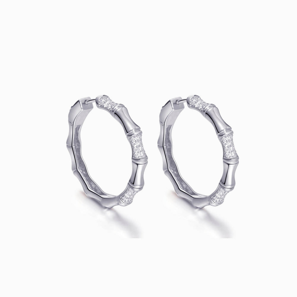 shining Bamboo Hoop Earrings for women