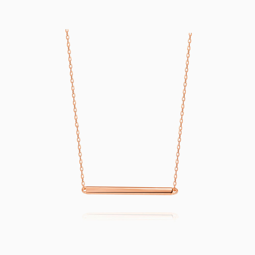 Bar Necklace Rose Gold