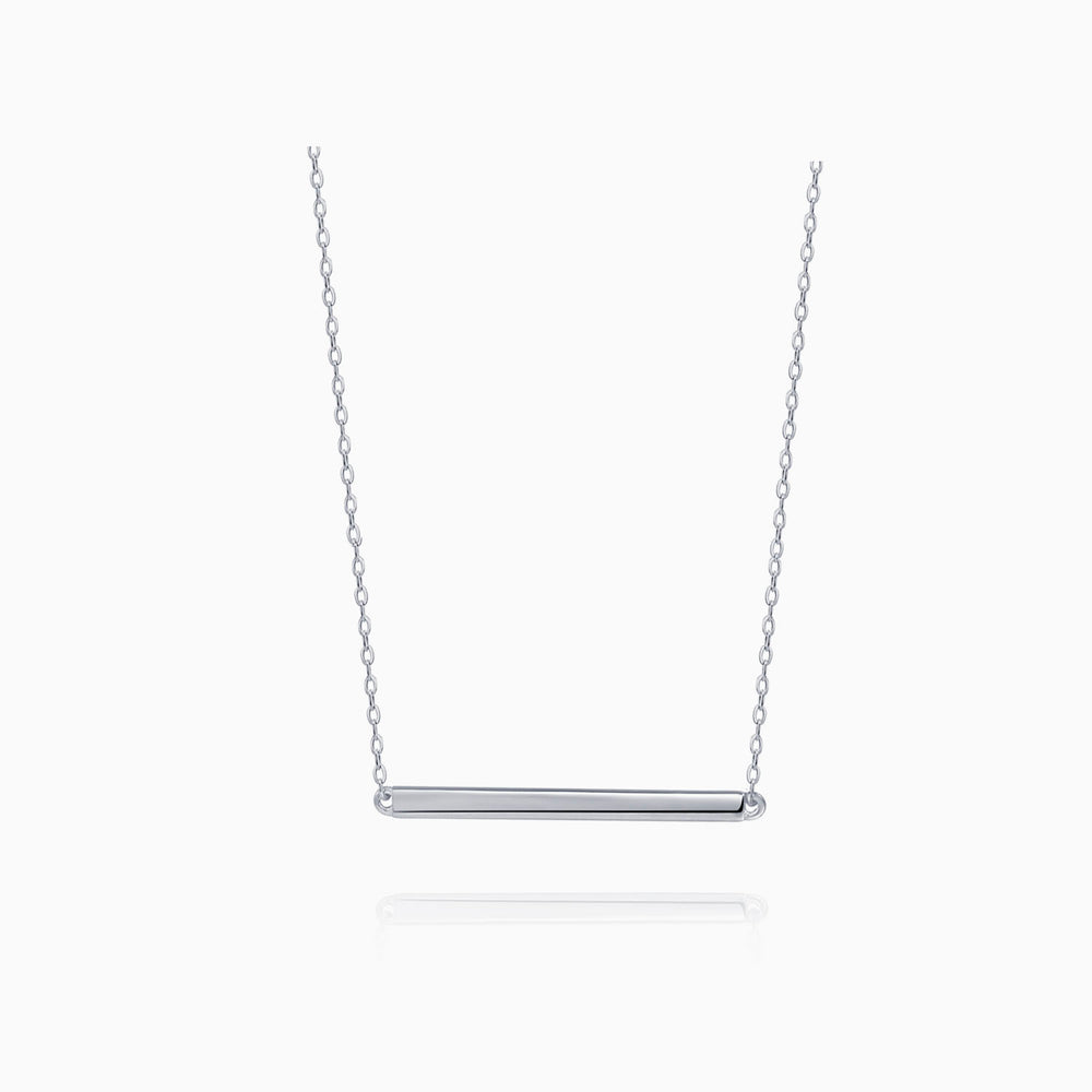 Bar Necklace Sterling Silver
