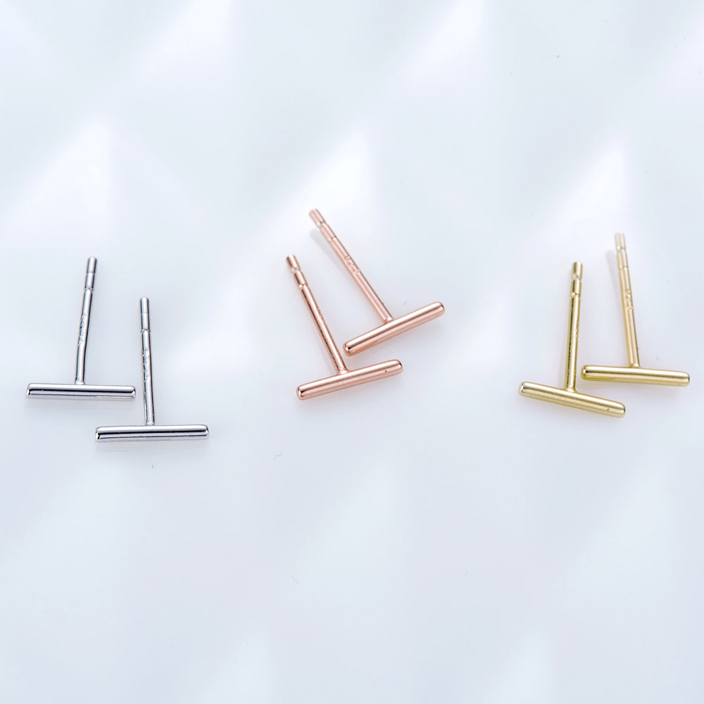 Tiny Stick Stud Earrings