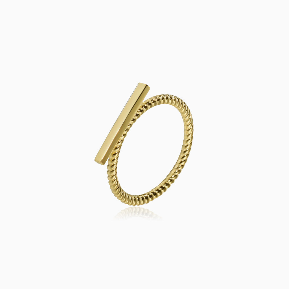 simple Bar Ring gold plated