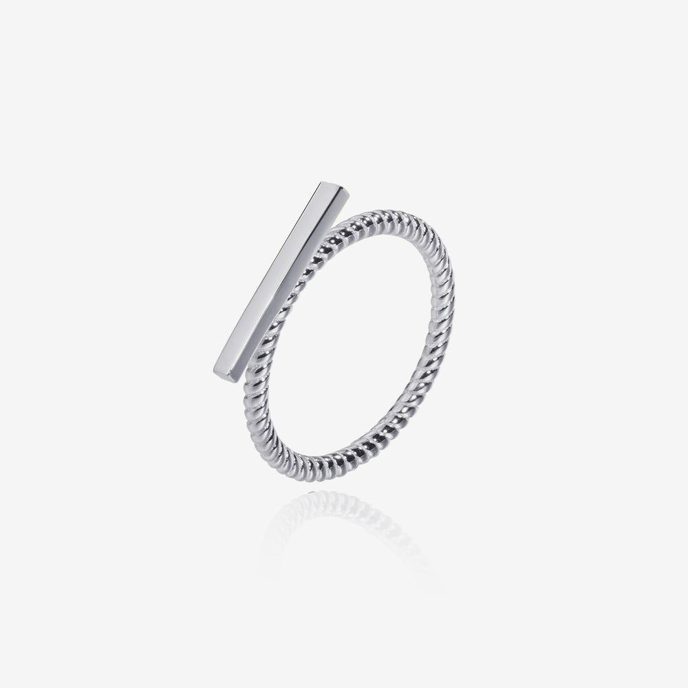 simple simple Bar Ring sterling silver for women