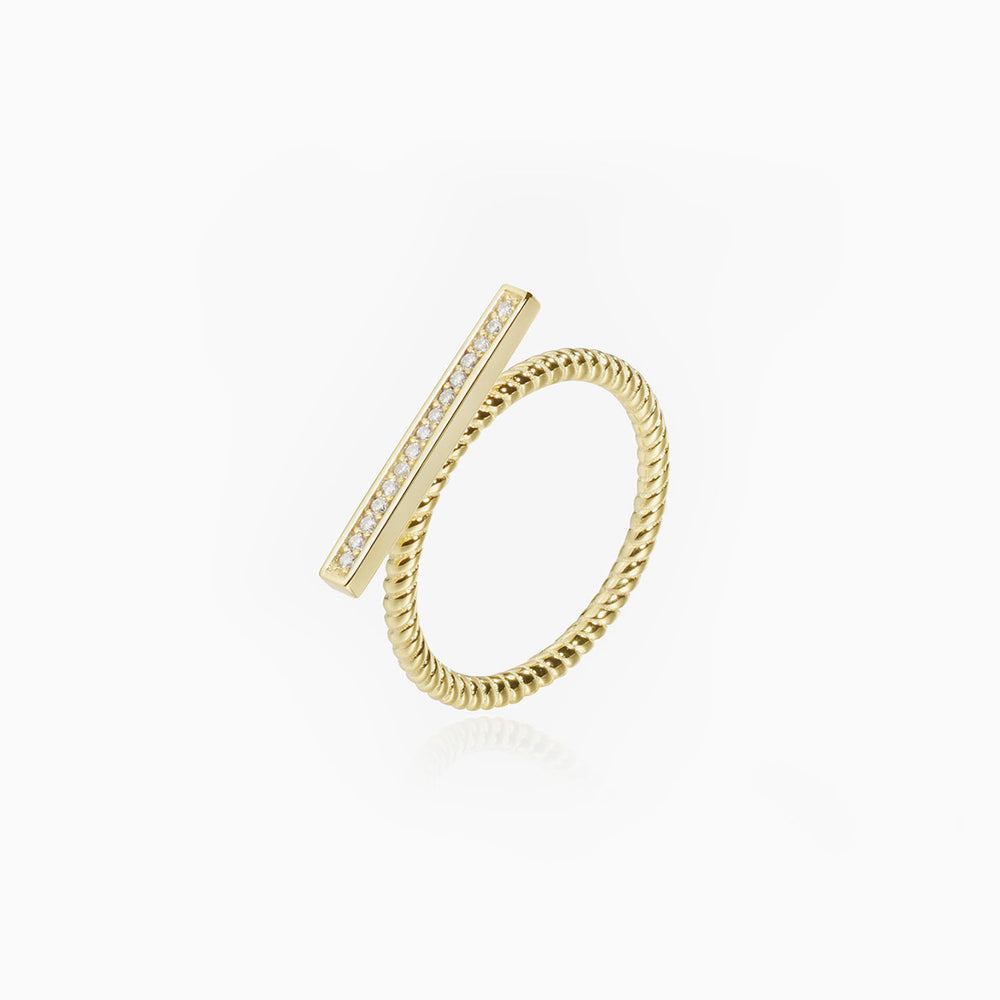 bar ring for women