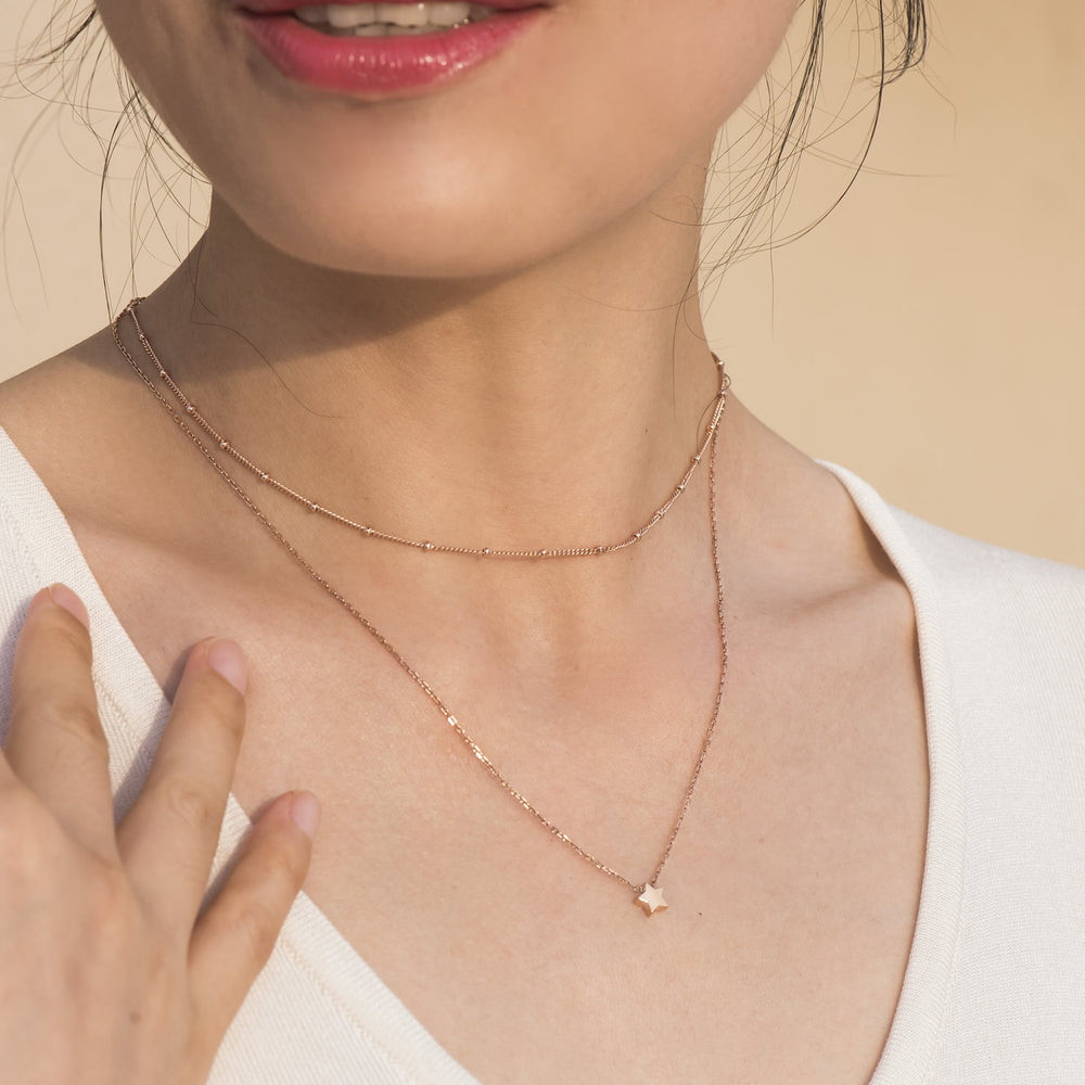 dainty Satellite Chain Choker for women