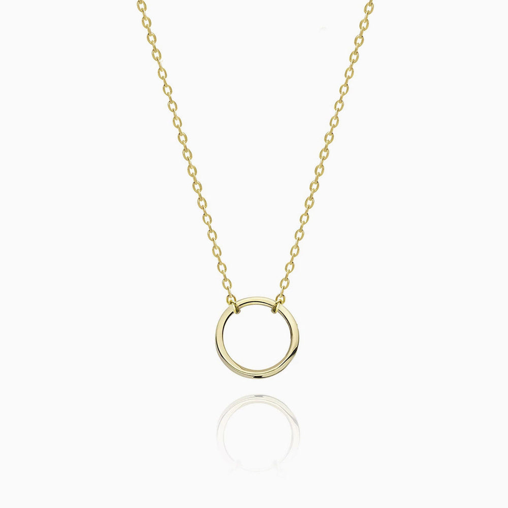 Karma Open Circle Necklace gold
