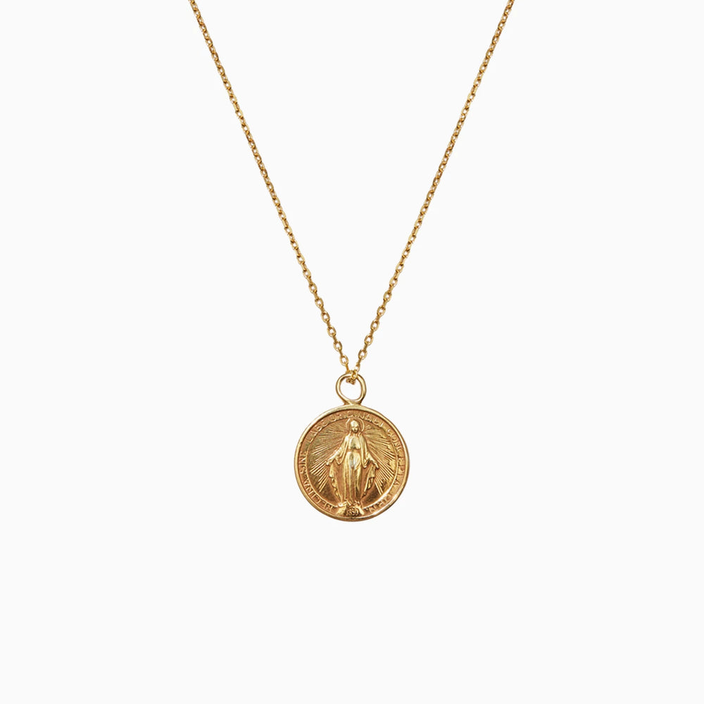 Jesus Christ Coin Necklace gold