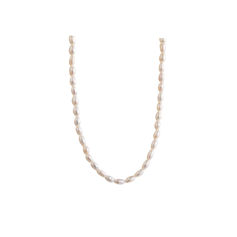 2.5mm mini rice pearl choker necklaces gold