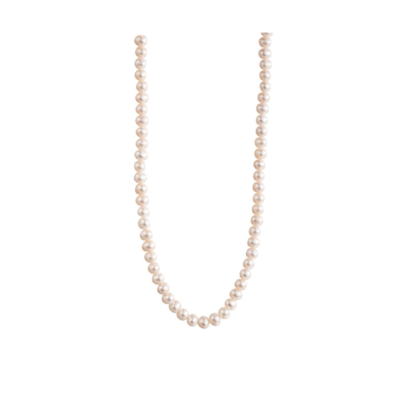 3mm tiny freshwater near round pearls necklace chokers