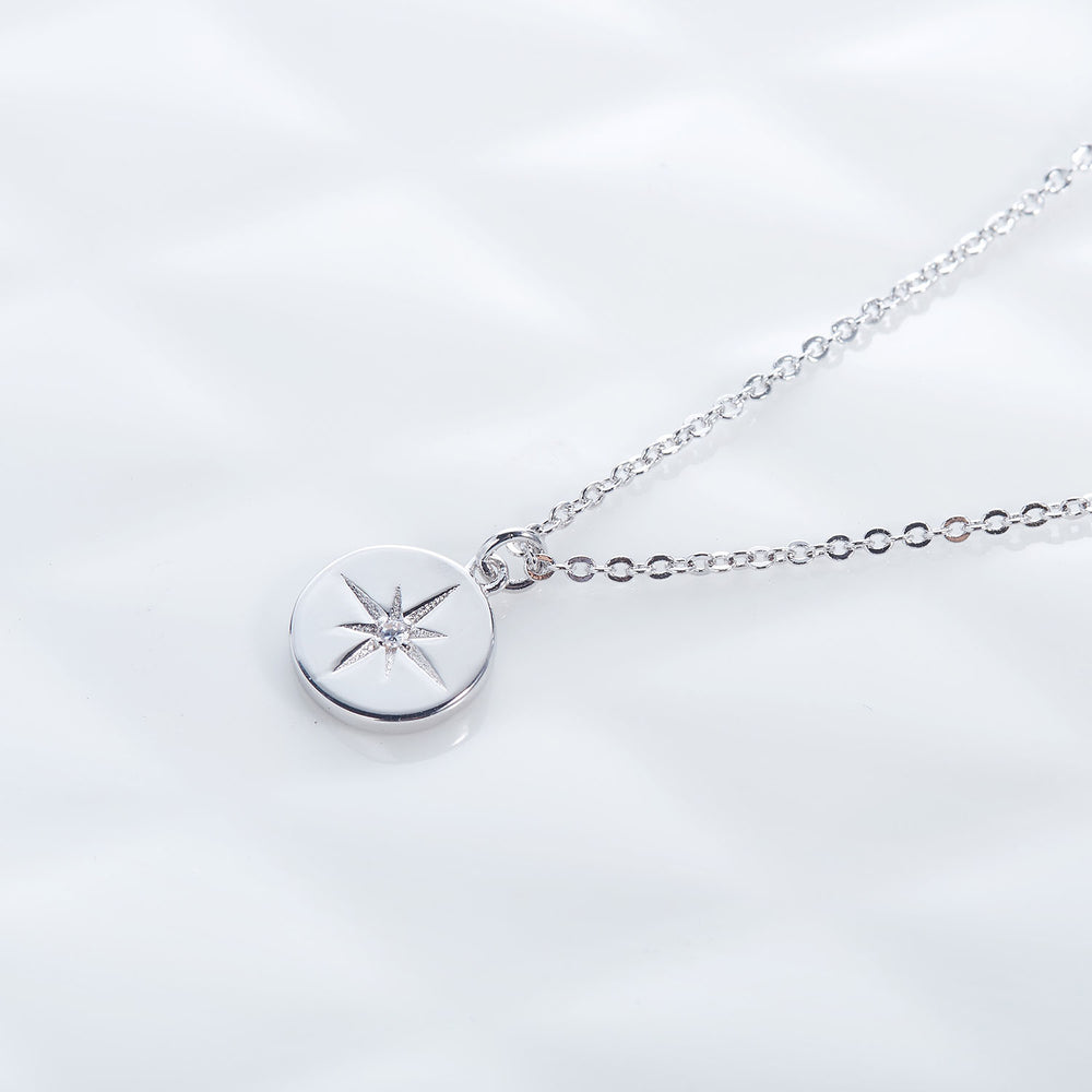 compass coin necklace for women