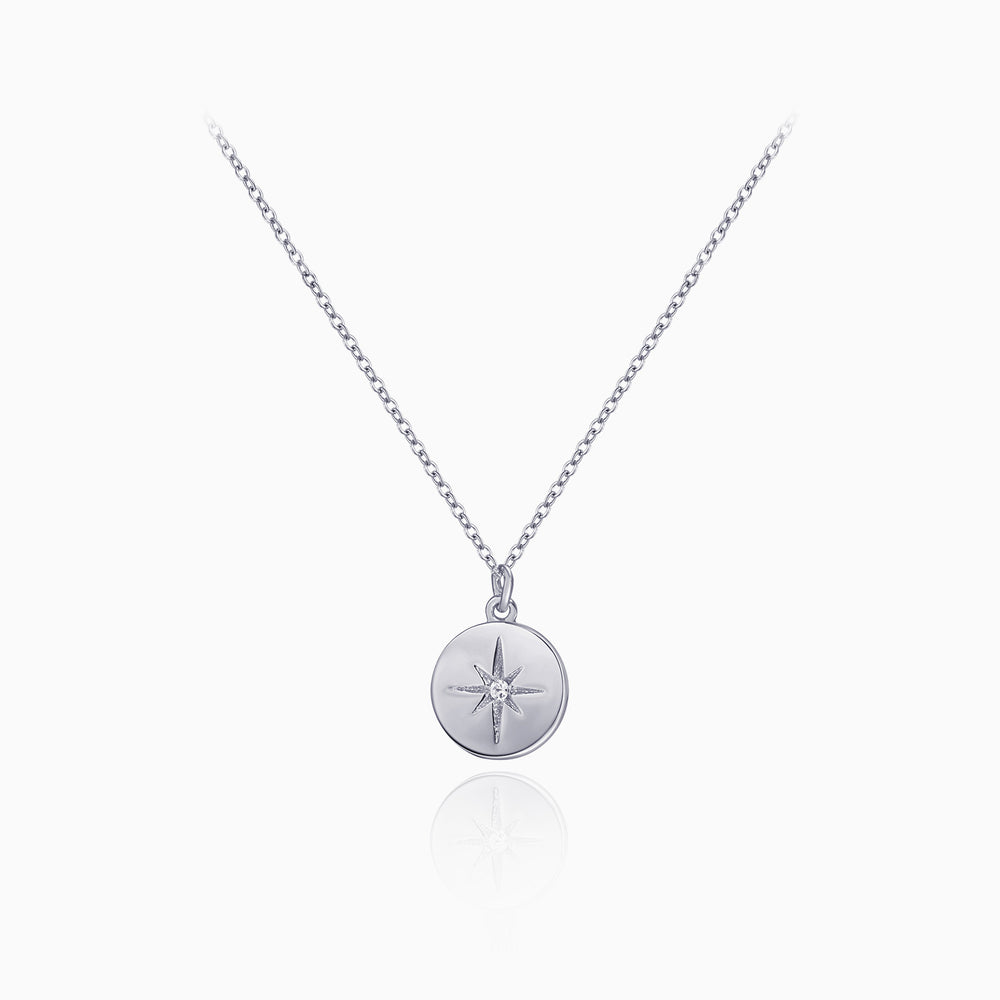 Star Signet Coin Necklace sterling silver