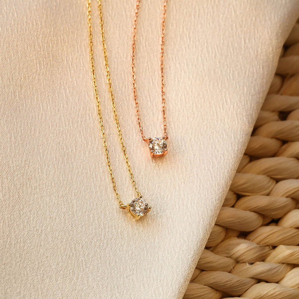 cubic zirconia solitaire necklace Swarovski necklace gift ideas
