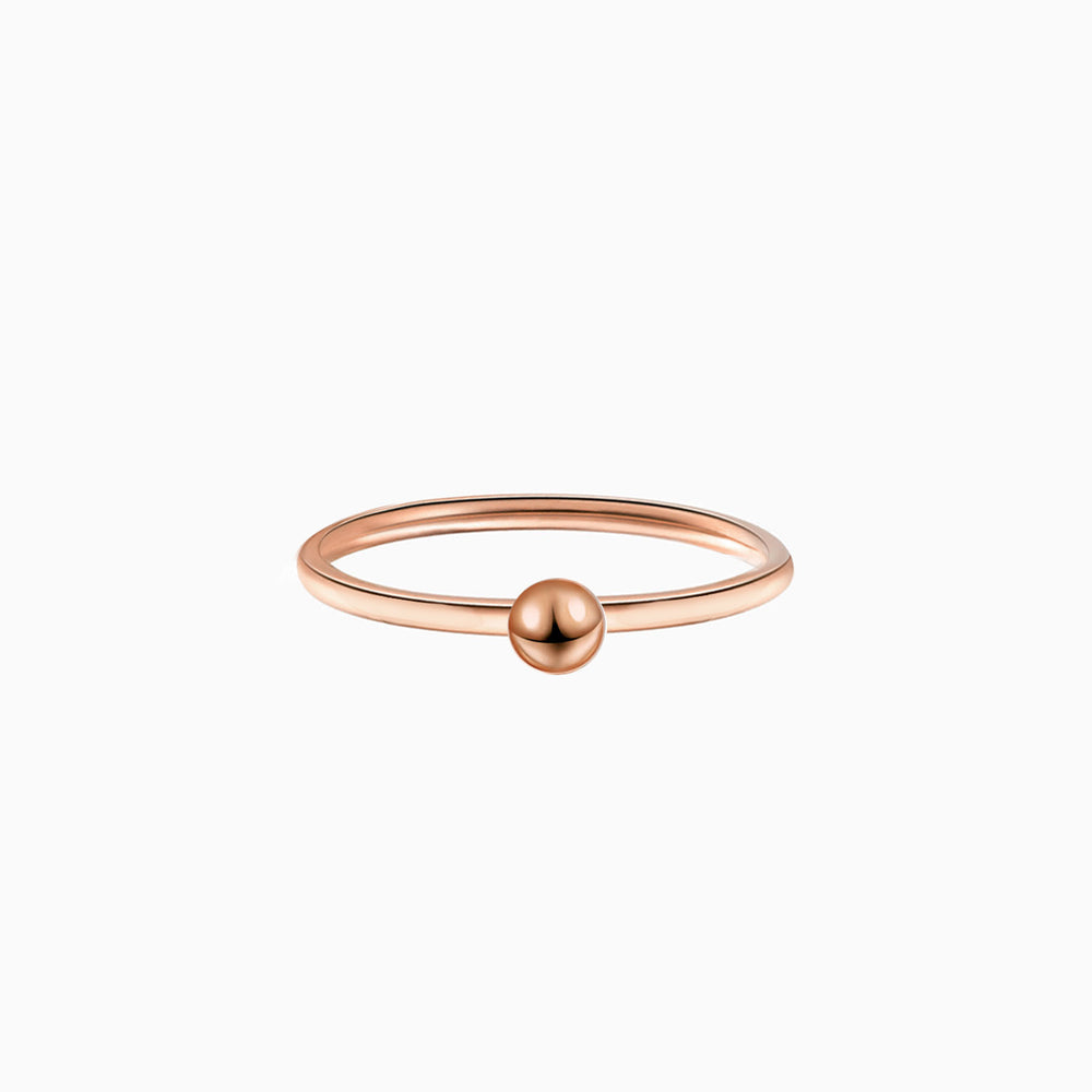 Tiny Ball Ring rose gold