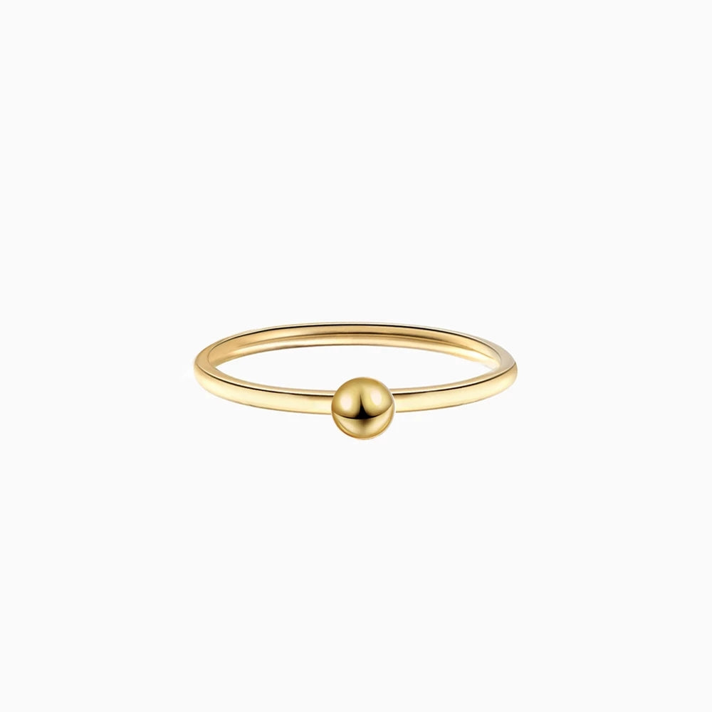 Tiny Ball Ring gold