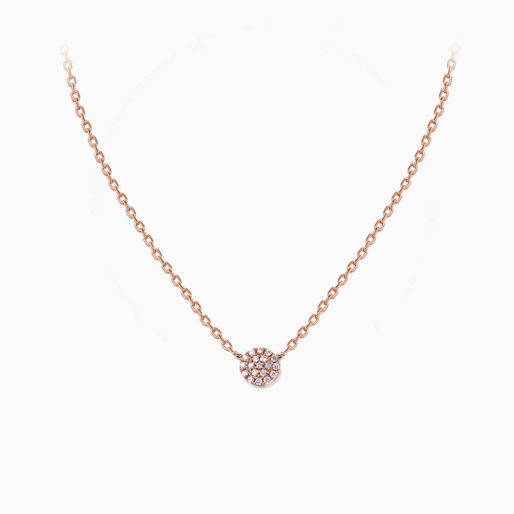 disc necklace rose gold gift ideas