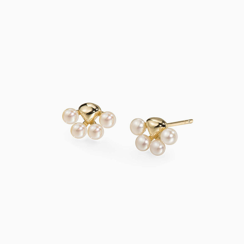 Pet Paw Baby Pearl Stud Earrings