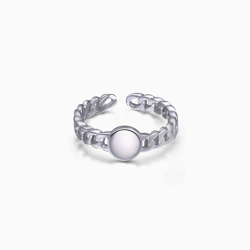 silver Dot Chain Ring Adjustable