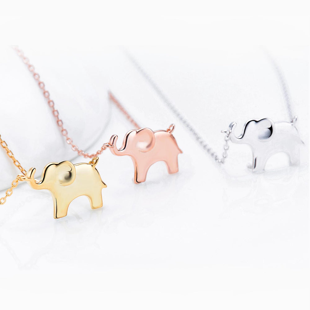 Elephant pendnat Necklace gift ideas