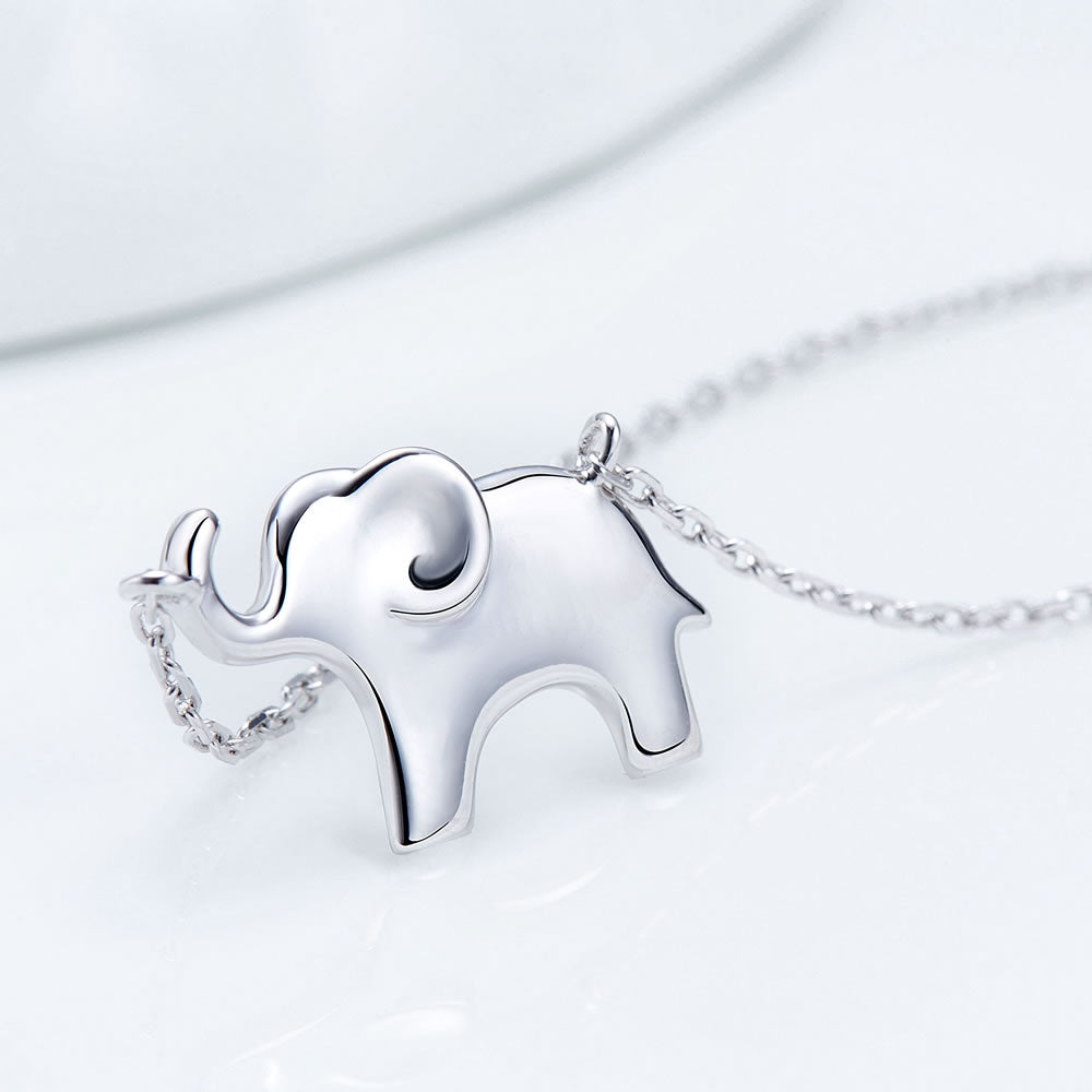 dainty silver Elephant Necklace