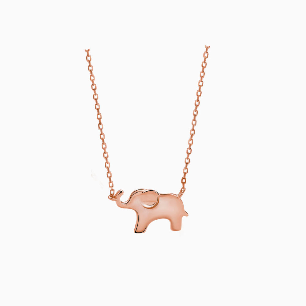 cute Elephant Necklace rose gold