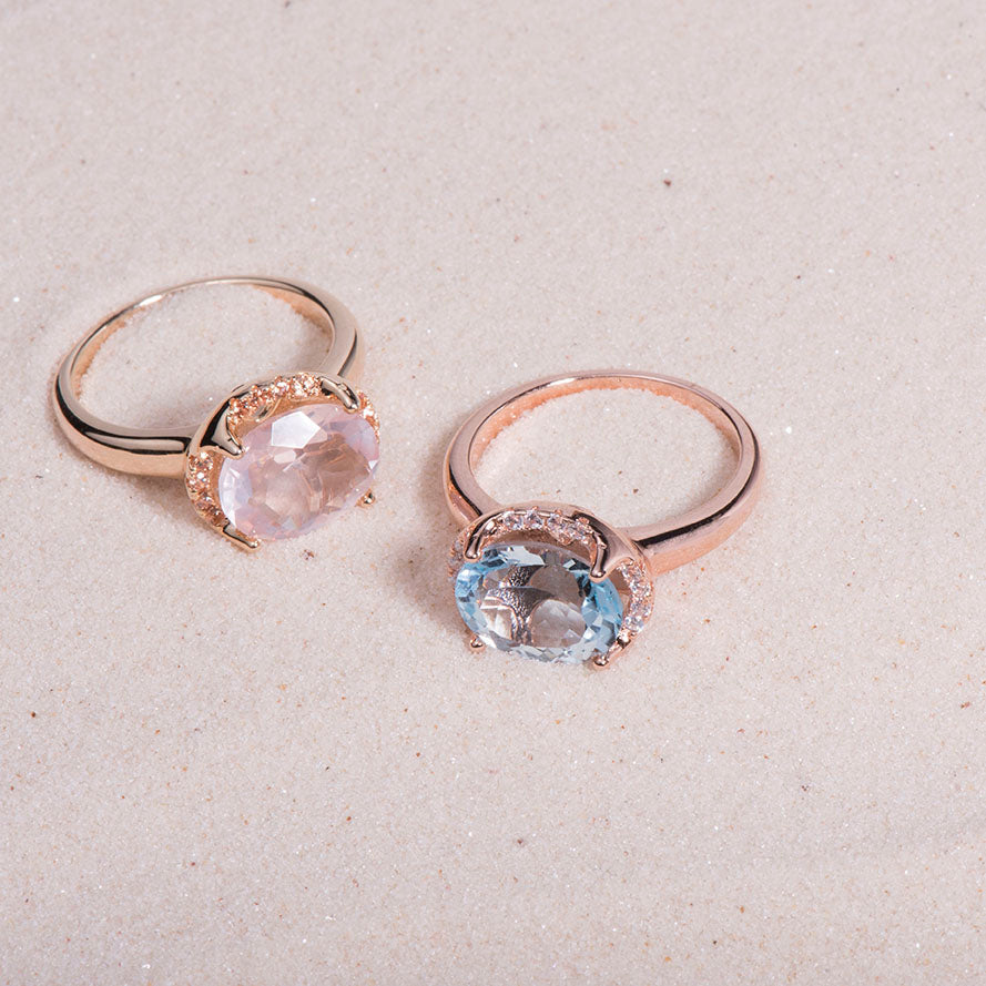 London Blue Topaz cocktail rings for women