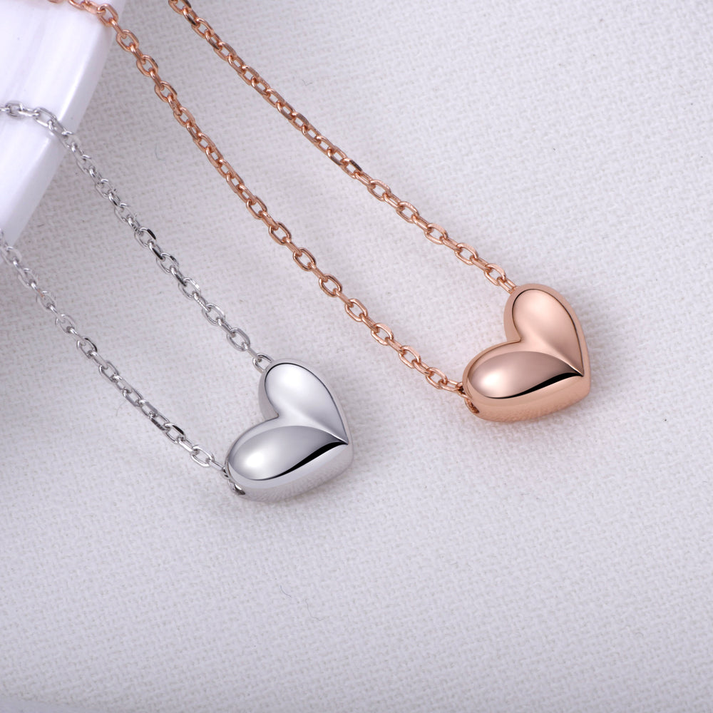 high shine Heart Necklace