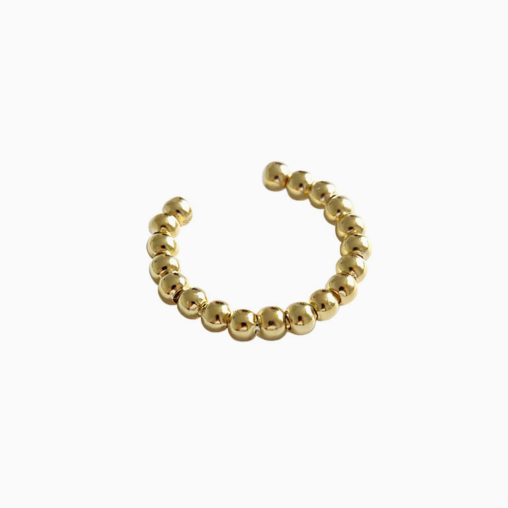 gold minimalist adjustable beaded ring